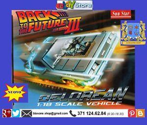 Modellino-Auto-Delorean-1-18-Ritorno-al-Futuro-Film-BACK-TO-THE-FUTURE-Doc-Car