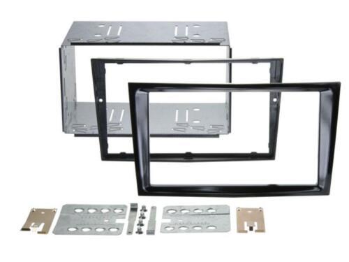 Kit de montage radio double DIN Ouverture Opel Astra H 04-10 incl ausziehhaken Black