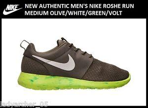 New-Authentic-Nike-Roshe-Run-Men-039-s-size-10-5-Marble-Medium-Olive