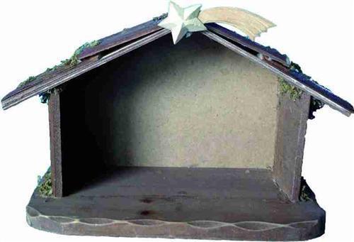 Crèche de Noël crèches écurie holzkrippe crèche environ 23 x11 5 x15cm avec comète