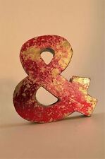 Fantastico retrò vintage style rosso 3D Metallo shop sign AMPERSAND & simbolo font