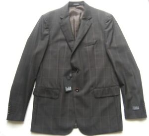 Lab-Men-Jacket-in-Brown-Check-Size-54-Wool