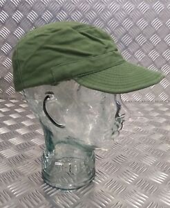Genuine Vintage Army Issue Green Crap Hat Fatigue Cap Combat Cap 58cm Band