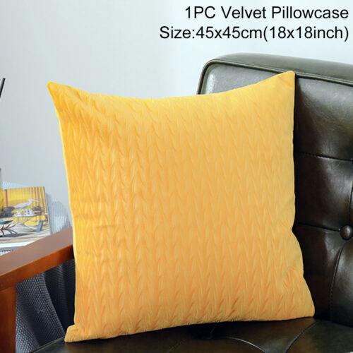 17/'/' Velvet Cushion Cover Pillow Case Wheat Printed Home Sofa Throw Bed Decor