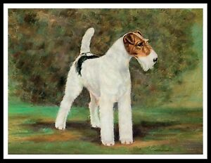 English Picture Print Wire Hair Fox Terrier Dog Dogs Puppy Puppies Poster Art