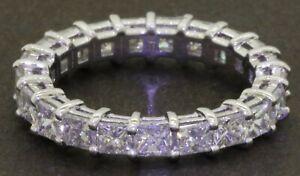 18K-white-gold-elegant-VS-3-40CT-diamond-eternity-band-ring-size-6-5