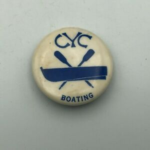 Vintage CYC Cleveland Yachting Club Boating Badge Button Pin Pinback JAZZ P6