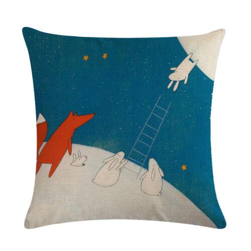 Cotton Linen Square Home Decorative Throw Pillow Case Sofa Taille Housse de coussin