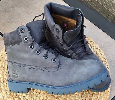 Timberland 6 INCH Premium Waterproof Boots Light Blue Nubuck Mens 6 Womens 8 | eBay