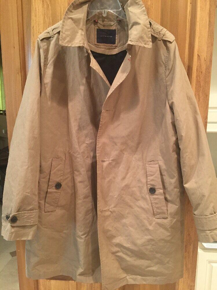 Tommy Hilfiger  Herren Khaki Trench Coat Rain Coat Removable Liner 275 Größe M/L