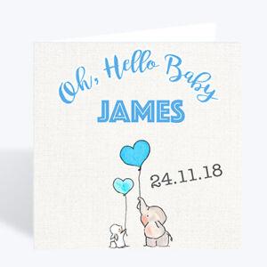 New Baby Boy Card Personalised Handmade Gift Card Uk Ebay
