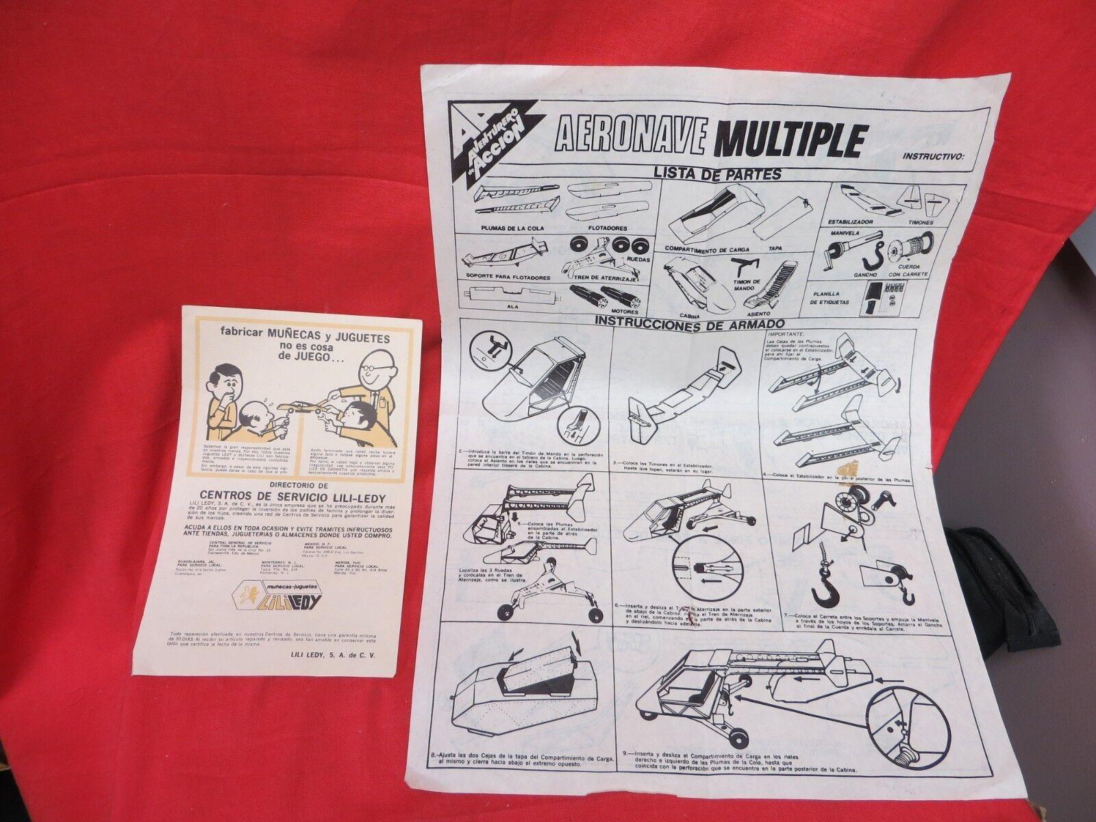 Vintage - gi joe 1964 joezeta  lili ledy adventurero de accion  anweisungen