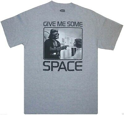 "STAR WARS Men/'s T-shirt /""Give Me Some Space/"" Darth Vader /& Princess Leia S,L,2XL"