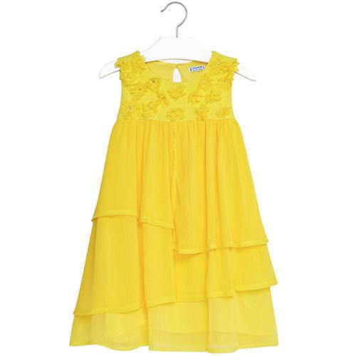 Mode für Mädchen MAYORAL Mädchen Kleid 6956 gelb ...
