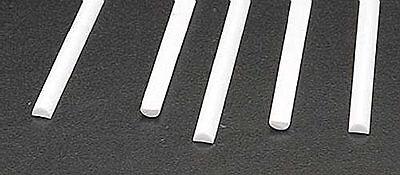 NEW Plastruct Half Round Rod Styrene 1/8x1/16x10  (5) 90884