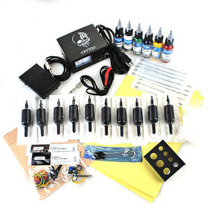 Tattoomaschine-Komplett-Set-Tattoo-Kit-2-Maschine-Taetowierung