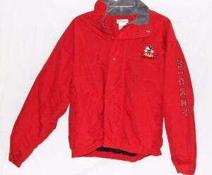 Vintage Mickey Mouse Jacket Bomber Black Jacket Size Mens Medium