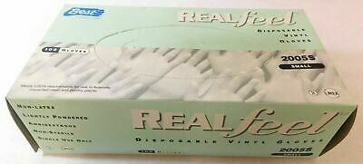 Best Real Feel Disposable Vinyl Gloves Size Small Non-Latex 2005S 100 Gloves