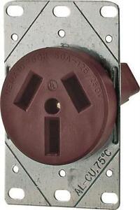 new cooper 32 box 125 250 volt 50 amp 3 pole 3 wire receptacle rh ebay com 30 amp 250 volt plug wiring diagram 20 amp 250 volt plug wiring