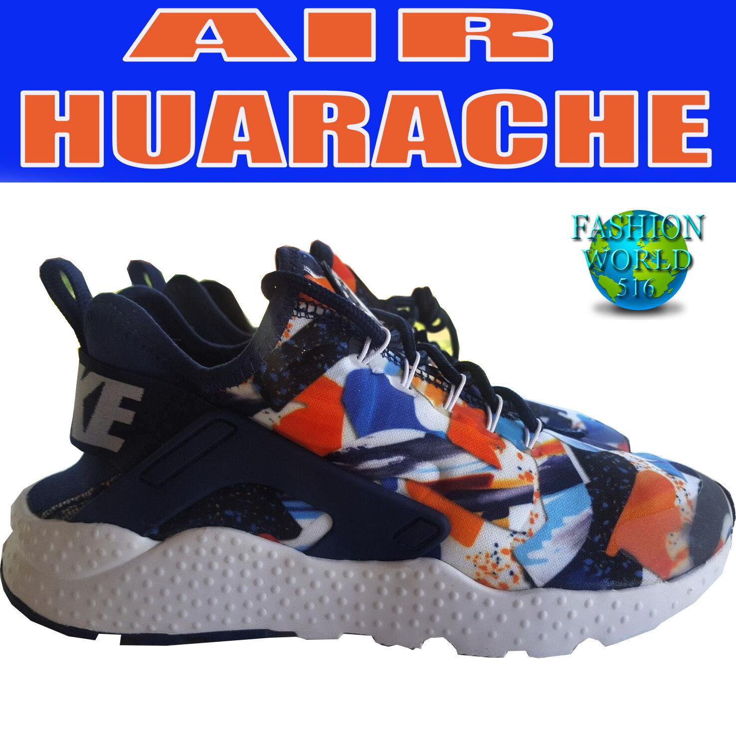 Le dimensioni della nike 7 aria huarache correre ultra impronta blu / bianco / arancio 844880