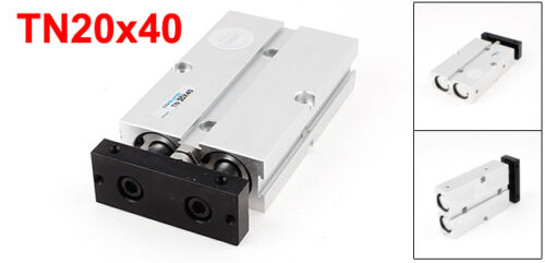 TN20x40 20 mm de diámetro 40mm carrera doble Barra Cilindro de Aleación de Aluminio Aire Neumático