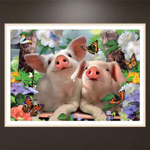 diy 5d diamond embroidery cute pigs painting cross stitch crafts
