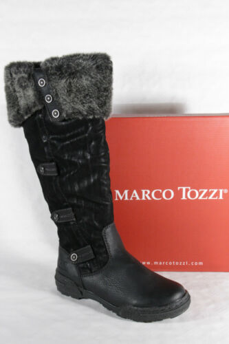 Marco Tozzi señora botas negro nuevo!!!