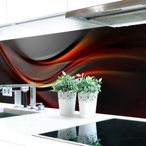 Kuechenrueckwand-Abstrakt-Dunkel-Premium-Hart-PVC-0-4-mm-selbstklebend