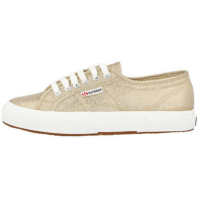 SUPERGA 2750 LAMEW WOMEN SCHUHE GOLD S001820-174 FREIZEIT FASHION SNEAKER