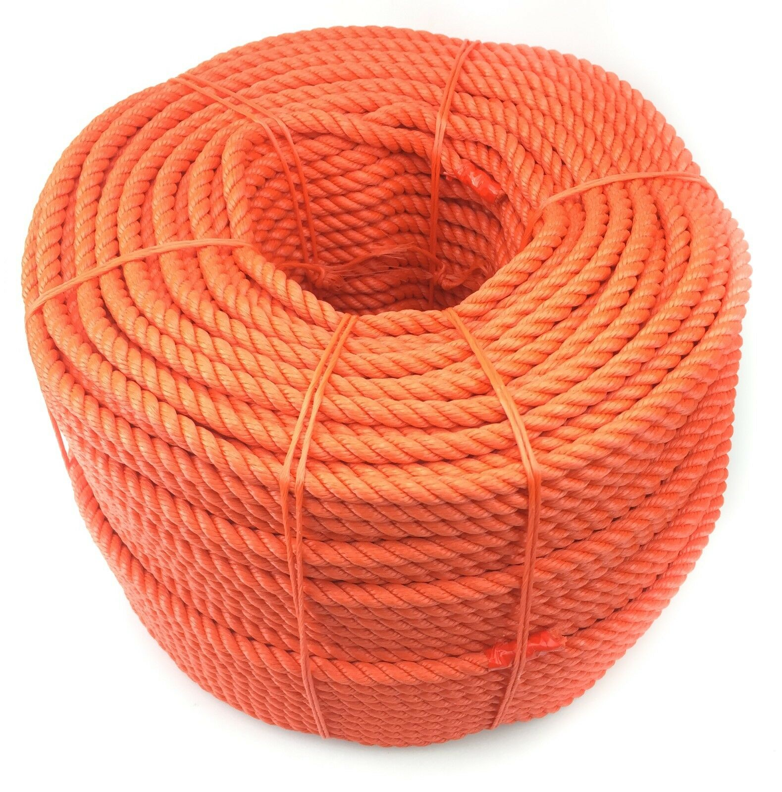 orange Floating Lifeline Rescue Rope Polyethylene - 8mm - Various Lengths