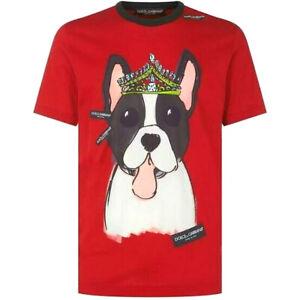 D-amp-G-Red-Terrier-Print-Tshirt