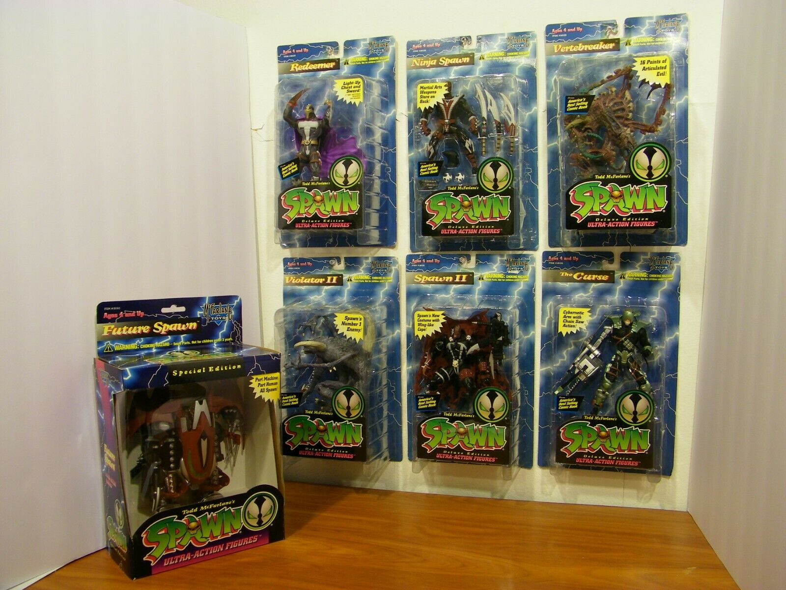 SPAWN Action Figures Series 3 Lot - 1995 McFarlane Toys