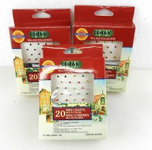 3 Lemax 64123A Mini Lights Strings Multi-Color Village Collection ~NIB~ S23