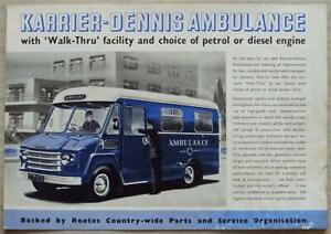 KARRIER DENNIS Walk Thru AMBULANCE Sales Brochure 1962 #1470