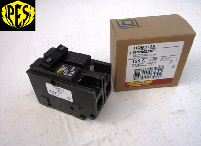 SQUARE D HOM2125 NEW CIRCUIT BREAKER 125 AMP 2 POLE 120//240 VAC