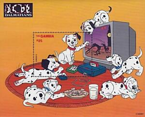 DISNEY-GAMBIA-101-DALMATIANS-S-S-3-MNH-DOGS-COMPUTER-GAMES