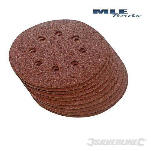 # Silverline Aluminium Oxide Sanding punched Pad Hook /& Loop 10pk 150mm sander