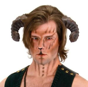 Adult-Mens-Realistic-Satyr-Goat-Ram-Animal-Greek-Mythology-Cosplay-Costume-Horns
