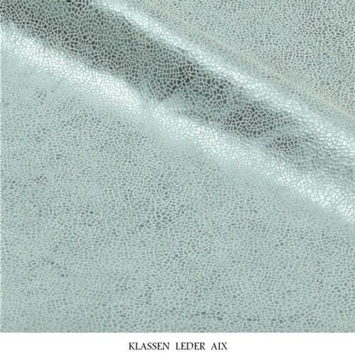 Kalbsleder Mint Metallic Design 1,0 mm Dick Echt Leder Stück Rindsleder 249