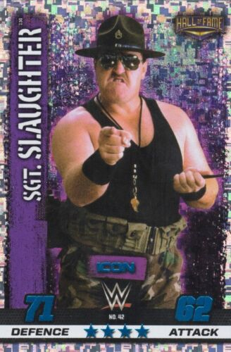 Topps WWE SLAM ATTAX 10 10TH EDITION CHAMPION ICON HOLOGRAPHIC FOIL CARDS