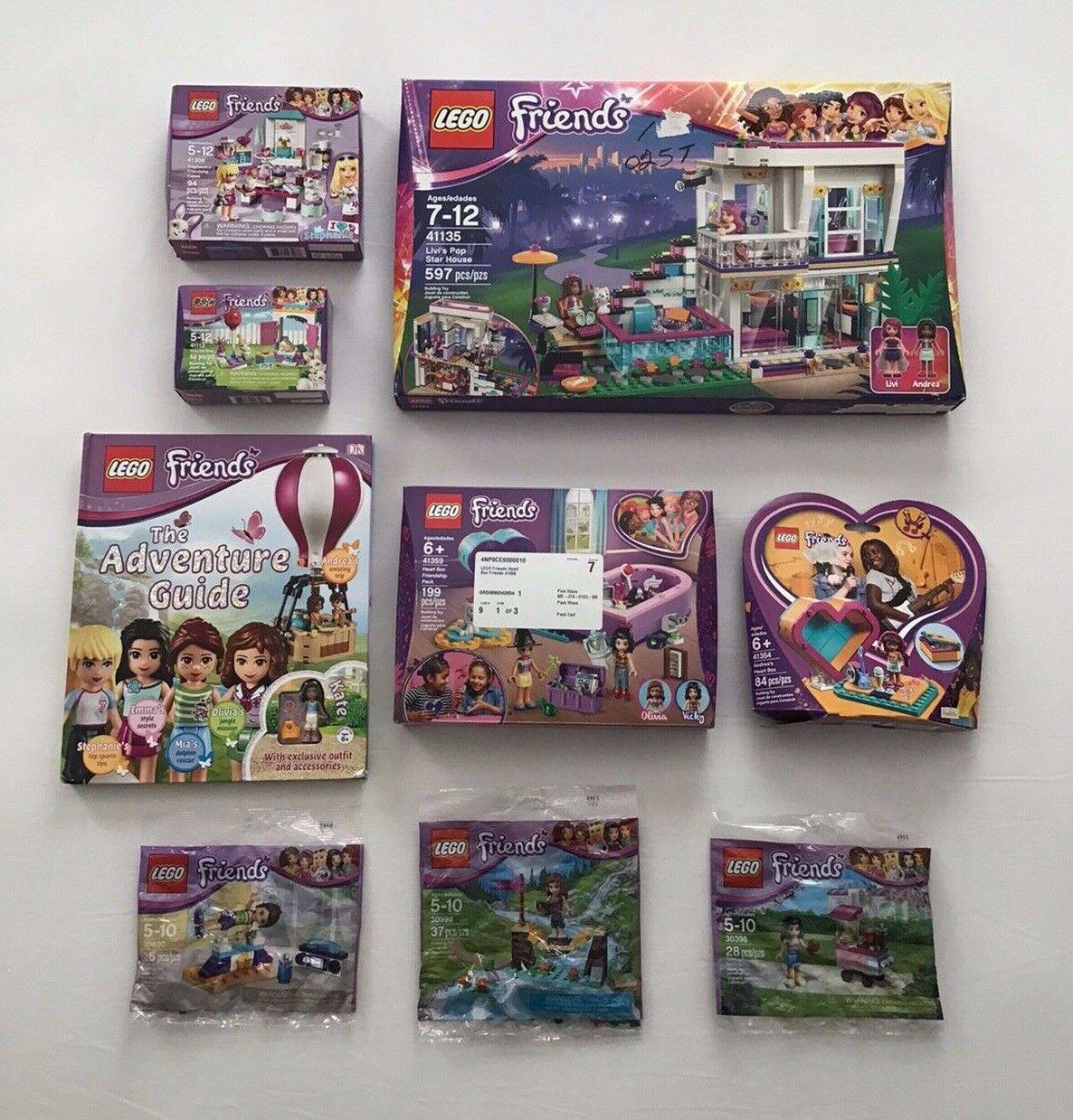 Lego Friends Andrea Stephanie Emma Livis Pop Star House 41135