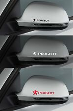 For PEUGEOT  2 x Wing Mirror - CAR DECAL STICKER ADHESIVE -  206 208 100mm long