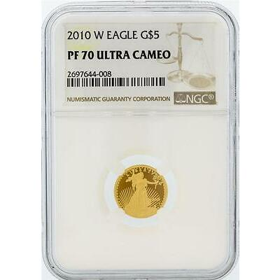 2010-W NGC PF 70 Ultra Cameo $5 American Eagle Gold Coin Lot 685