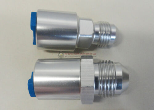 LT1 LT4 LS1 LQ4 LQ9 Fuel Rail Adapter Fittings Feed//Return AN 8//6 PUSH ON SILVER