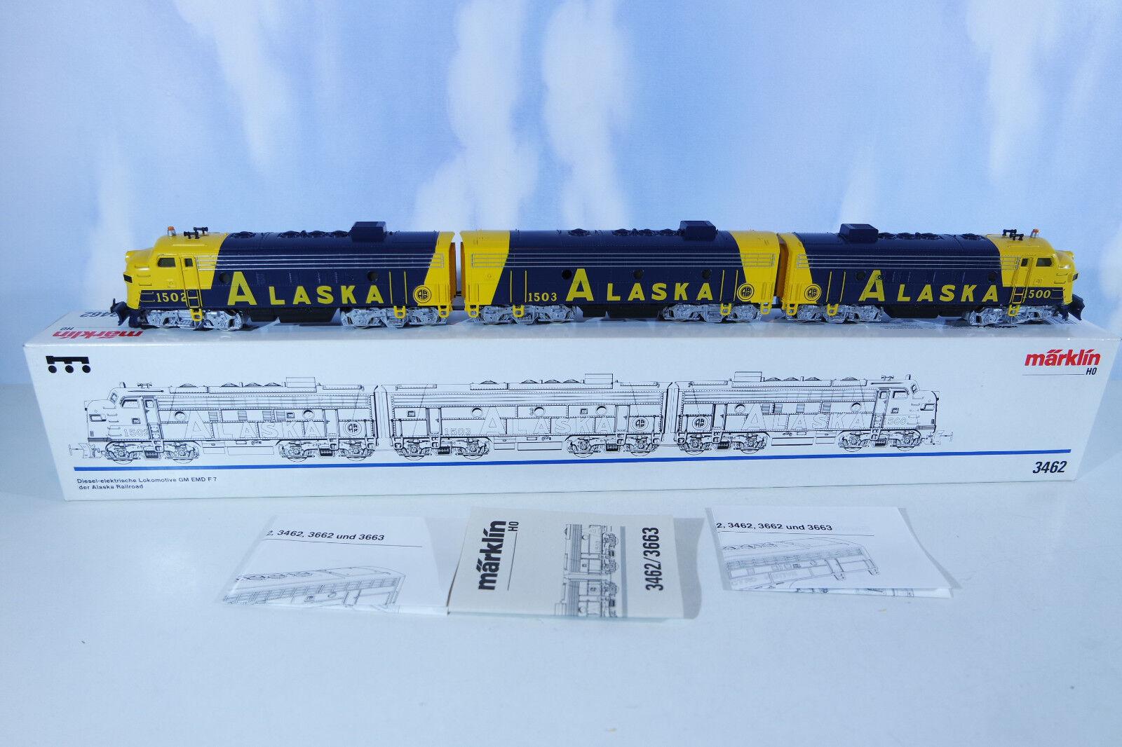Märklin 3462 Alaska Railroad Ee.uu F7, Perfecto Estado como Nuevo, en Emb.orig.