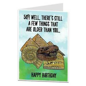 Image Is Loading Funny 50th Birthday Card For Men Women 50