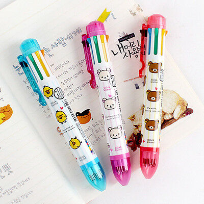 1pcs Cute Rilakkuma 8colors in a Ball Point Pen 0.7mm school supply Stationery