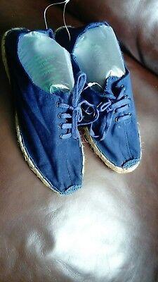 Tela de vacaciones de cubierta de Playa Azul con Cordones Ligero Zapatos Talla 7