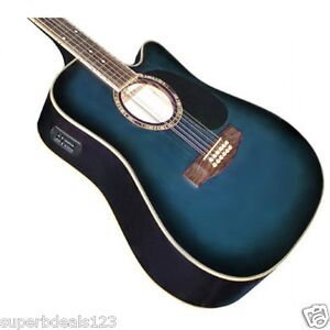 12 string guitar acoustic plus option to plug in to electric with equaliser ebay. Black Bedroom Furniture Sets. Home Design Ideas