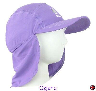 Kidz Swimmers Girls Orchid Purple Sun Protection Legionnaire Cap UPF 50+